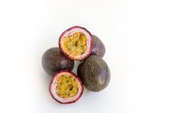 Passionfruit isolou-se no branco Imagem de Stock Royalty Free