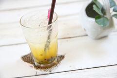 Passionfruit juice Stock Images