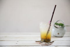 Passionfruit juice Royalty Free Stock Image
