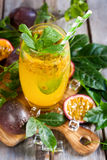 Passionfruit lemonade Stock Images