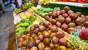 Passionfruit Marknad på Koh Samui Arkivbild