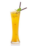 Passionfruit mocktail 免版税库存照片