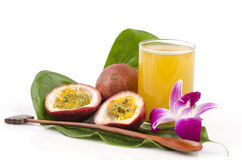 Passionfruit (Passiflora edulis). Is beneficial to the body stock image