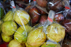 Passionfruit in a plastic package Stock Image