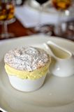 Passionfruit Soufflé with Cream Royalty Free Stock Photo