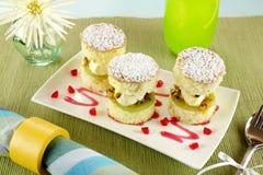 Passionfruit Sponge Stack Stock Photo