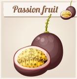 Passionfrukt Maracuja Tecknad filmvektorsymbol Arkivbilder