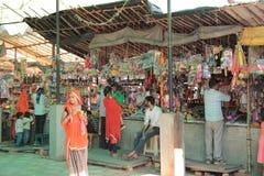 Passionnés fidèles sur le pèlerinage dans l'Inde Images libres de droits
