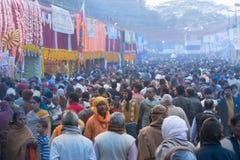 Passionnés indiens chez Gangasaga Images libres de droits