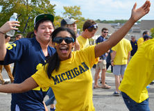 Passionés du football du Michigan Images stock