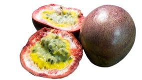 Passionsfrucht getrennt Stockfoto