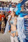 Passista in the Rio de Janeiro style Carnaval Parade Stock Photography