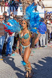 Passista in the Rio de Janeiro style Carnaval Parade Stock Images