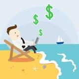 Passiv inkomst från internet vektor illustrationer