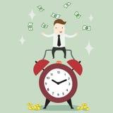 Passiv inkomst i freetime royaltyfri illustrationer