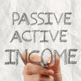 Passive or acctive income as concept Royalty Free Stock Image