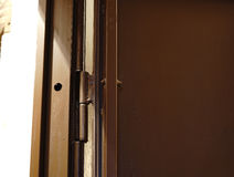 Passive bolt inside the door close-up. royalty free stock photos