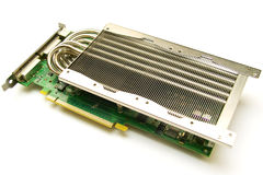 Passive Cooling System With Graphic Card Stock Photo