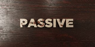 Passive - grungy wooden headline on Maple  - 3D rendered royalty free stock image Royalty Free Stock Photo