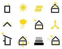 Passive house icons Royalty Free Stock Photo