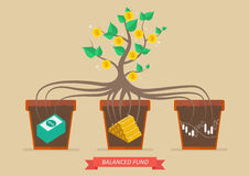 Passive income from balanced fund Royalty Free Stock Photo