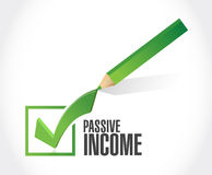 Passive income check mark concept Royalty Free Stock Photography