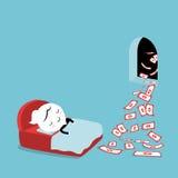 Passive Income. Conceptual cartoon Illustration stock illustration