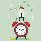Passive income in freetime. Vector illustration business cartoon Stock Photo