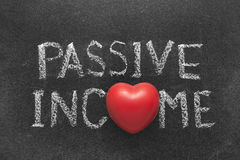 Passive income heart Royalty Free Stock Photos