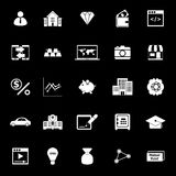 Passive income icons on black background. Stock vector Royalty Free Stock Image