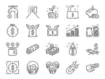 Passive income line icon set. Included the icons as Financial freedom, expenses, fee, investing and more. Vector and illustration: Passive income line icon set vector illustration