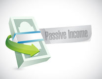 Passive income money bills concept Royalty Free Stock Photography