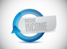 Passive income moving concept illustration Royalty Free Stock Photo