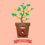 Passive income from oil fund. Business concept Royalty Free Stock Photos