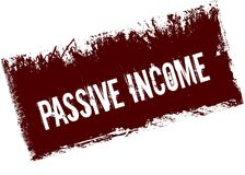 PASSIVE INCOME on red retro distressed background. Illustration image Stock Image