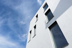 Passive modern building with large windows Stock Photography