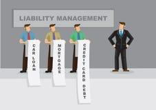 Passivsteuerung für Geschäfts-Karikatur-Vektor-Illustration Lizenzfreie Stockbilder
