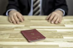 Passkontrolle Stockfotos