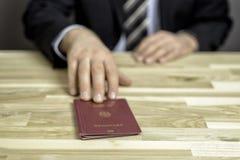 Passkontrolle Stockbild