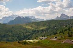 Passo在意大利白云岩的di Giau, 库存图片