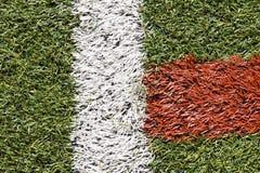 Passo artificial do futebol da grama Imagem de Stock Royalty Free