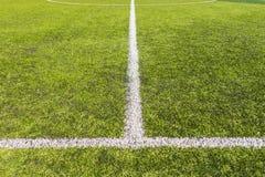Passo artificial do futebol da grama Imagens de Stock