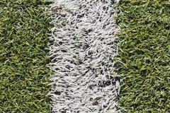 Passo artificial do futebol da grama ou passo futsal interno Imagens de Stock Royalty Free