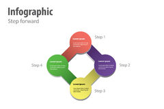 Passo avanti di Infographic Immagine Stock