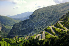Passo de Braus (alpi francesi) Immagine Stock Libera da Diritti