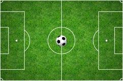 Passo de futebol Fotografia de Stock