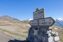 Passo de l'Iseran - Francia 2770 mt Immagine Stock Libera da Diritti