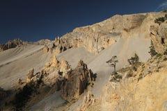 Passo de l?Izoard Francia delle alpi della Provenza Immagini Stock Libere da Diritti