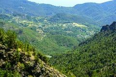 Passo del Bracco (Лигурия, Италия) Стоковое Изображение RF
