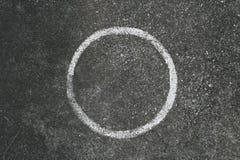 Passo del cerchio su cemento Fotografie Stock Libere da Diritti